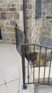 Wrought iron, forged cap rail and security fence