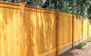 wood fencing, privacy 2x6 capped top with decorative cap on 6x6inch post, tongue and groove