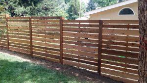 Wood Fence Contemporary Design - cedar spaced